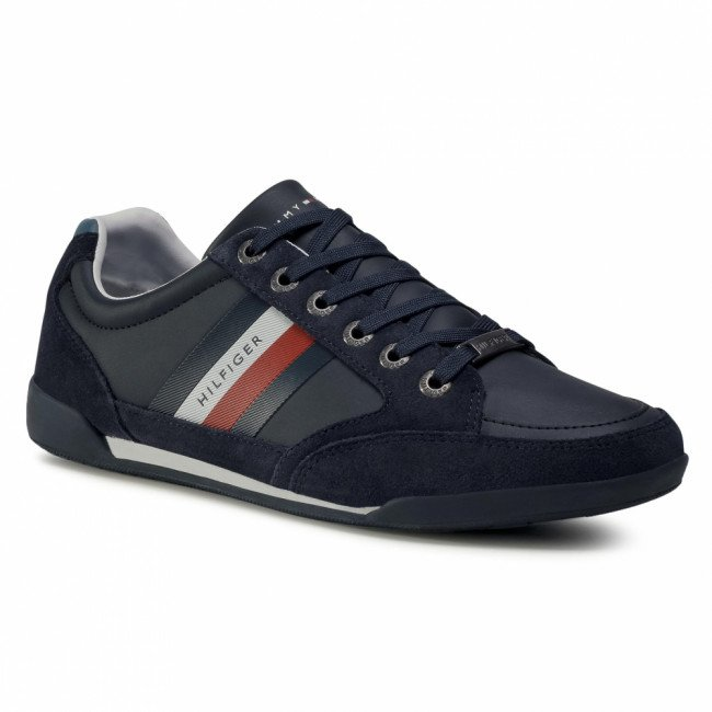 Sneakersy TOMMY HILFIGER - Corporate Material Mix Cupsole FM0FM02989 Desert Sky DW5