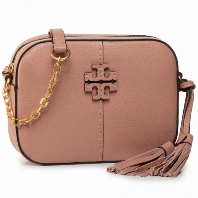 Kabelka TORY BURCH - Mcgraw Camera Bag 64447 Pink Moon 689
