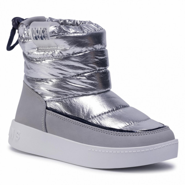 Topánky PEPE JEANS - Brixton Girl Puff PGS50158 Silver Grey 914