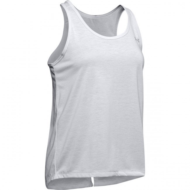 Tielko Under Armour Whisperlight Tie Back Tank-Gry