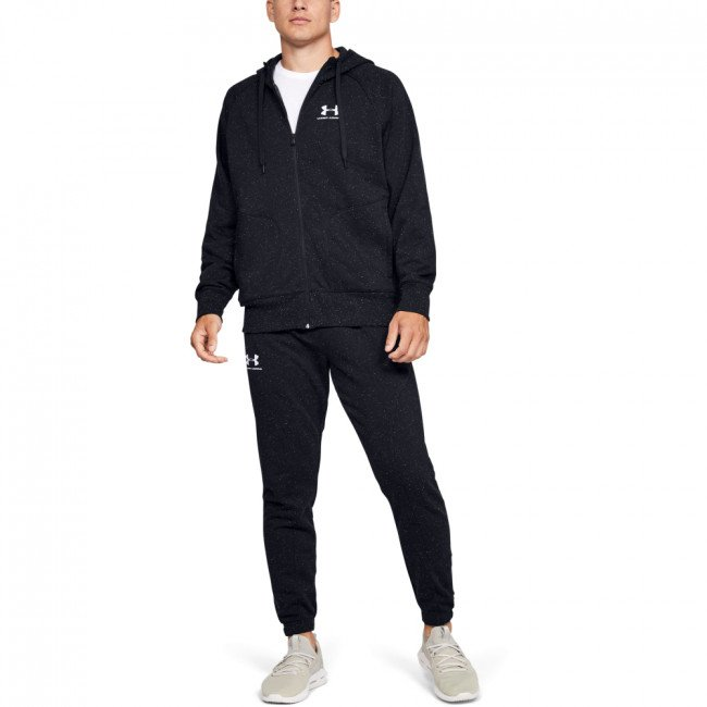 Mikina Under Armour SPECKLED FLEECE FZ HOODIE-BLK