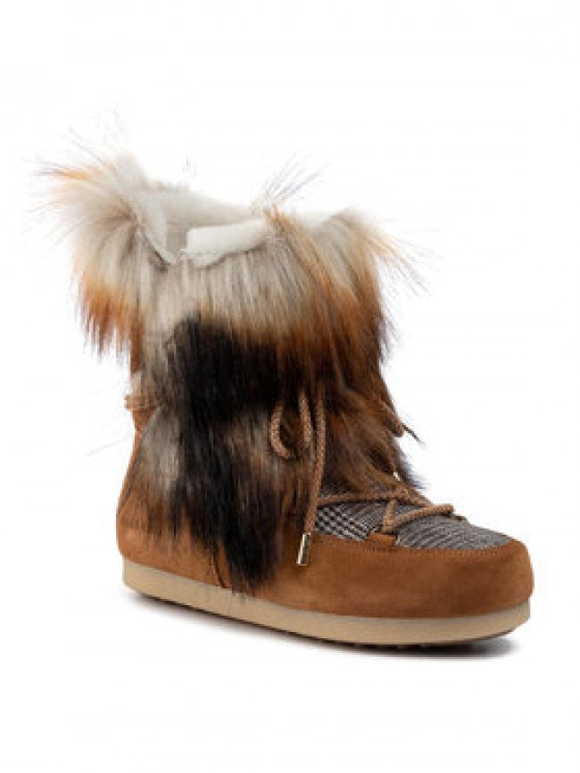 Moon Boot Snehule Mb Far Side High Faux Fox Fur 24201200001 Hnedá