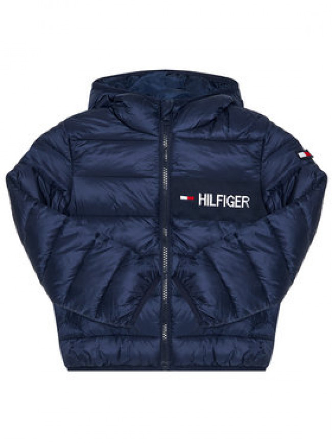 TOMMY HILFIGER Vatovaná bunda Essential Padded KB0KB05884 M Tmavomodrá Regular Fit