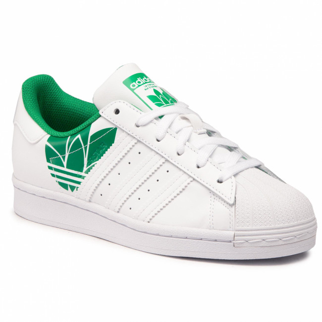 Topánky adidas - Superstar FY2827 Ftwwht/Ftwwht/Green