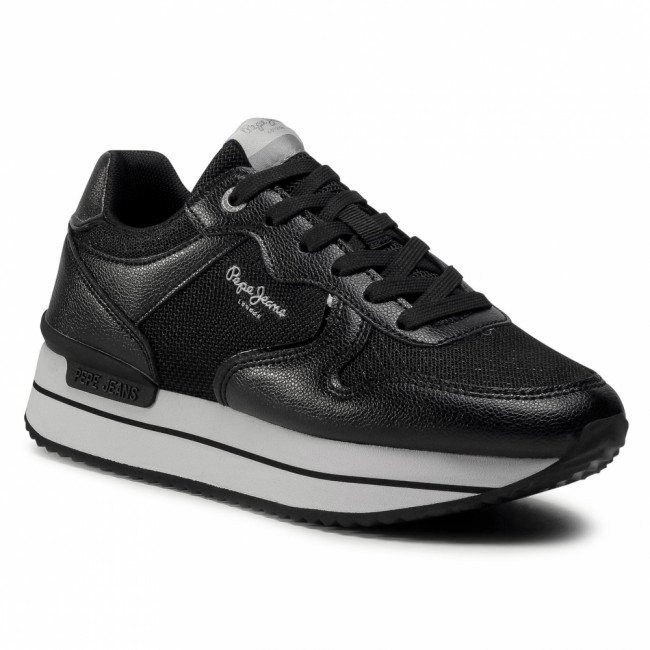 Sneakersy PEPE JEANS - Rusper City PLS31068 Black 999