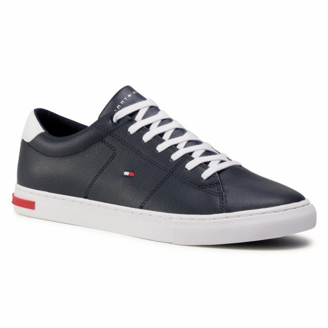 Sneakersy TOMMY HILFIGER - Essential Leather Detail Vulc FM0FM02977 Desert Sky DW5