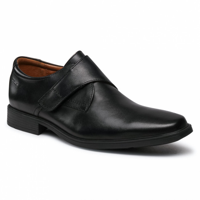 Poltopánky CLARKS - Tilden Strap 261562567 Black Leather