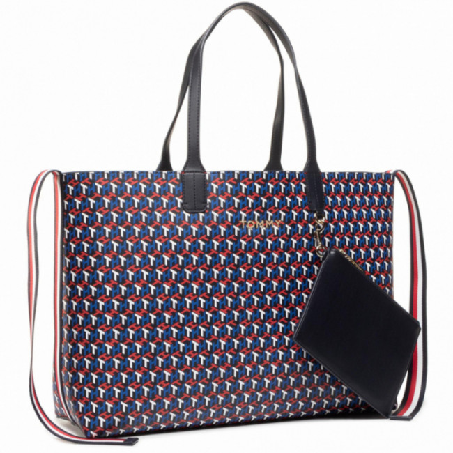 Kabelka TOMMY HILFIGER - Iconic Tommy Tote Mono AW0AW09049 XMP