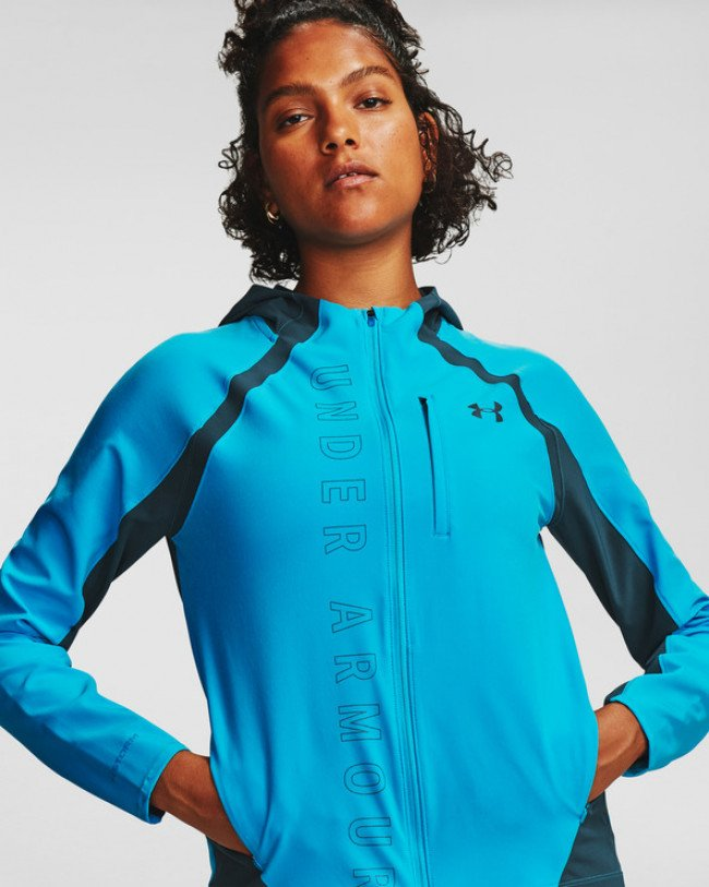 Under Armour Qualifier Outrun Bunda Modrá