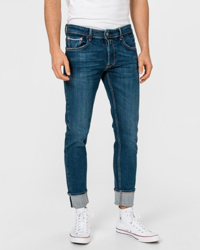 Replay Grover Selvedge Jeans Modrá