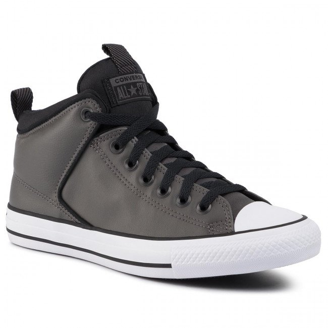 Tramky CONVERSE - Ct High Street Hi 166245C Carbon Grey/White/Black