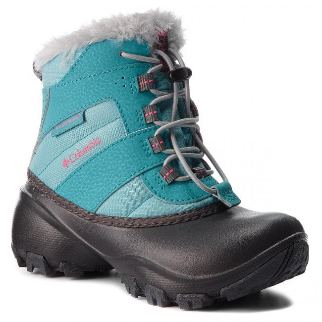 Snehule COLUMBIA - Childrens Rope Tow III Waterproof BC1323 Iceberg/Camellia Rose 341