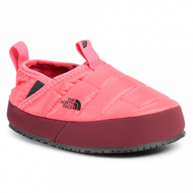 Papuče THE NORTH FACE - Youth Thermoball Traction Mule II NF0A39UXTJF1 Paradise Pink/Root Brown