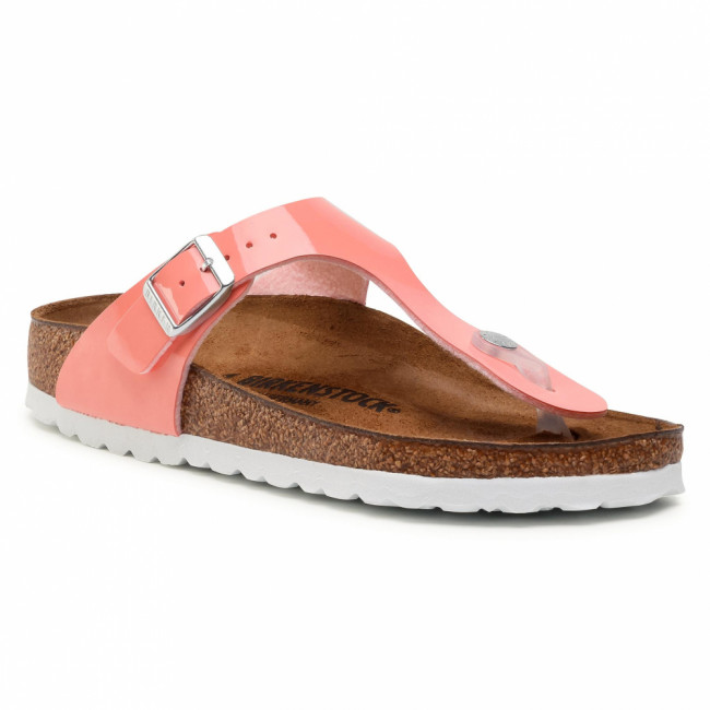 Žabky BIRKENSTOCK - Gizeh Bs 1019515  Patent Coral Peach