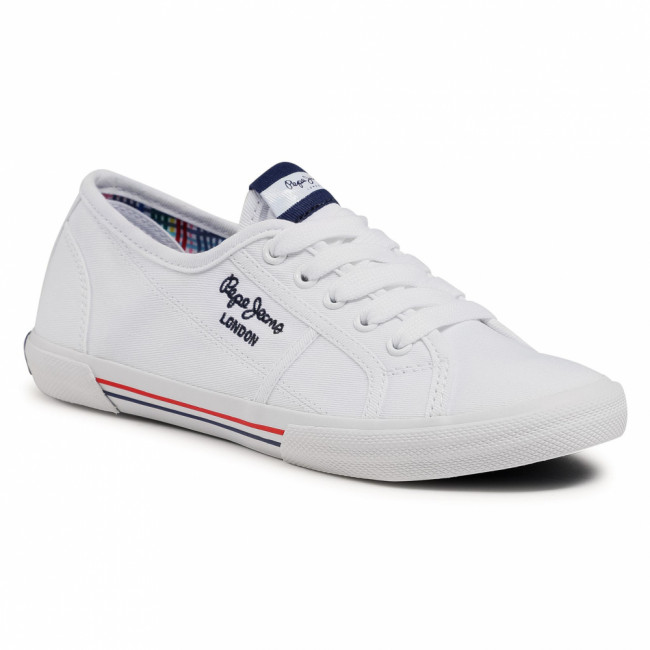 Tenisky PEPE JEANS - Aberlady Ecobass PLS31193 White 800