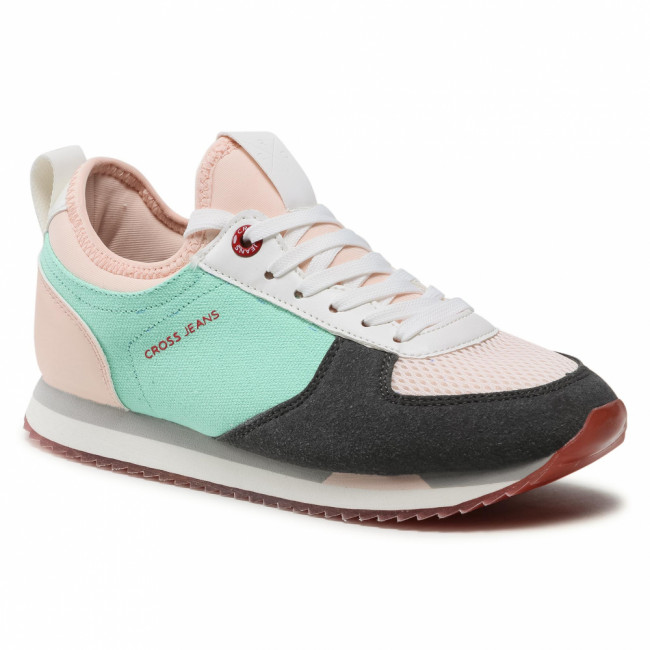 Sneakersy CROSS JEANS - HH2R4049C Pink/Grey/Green