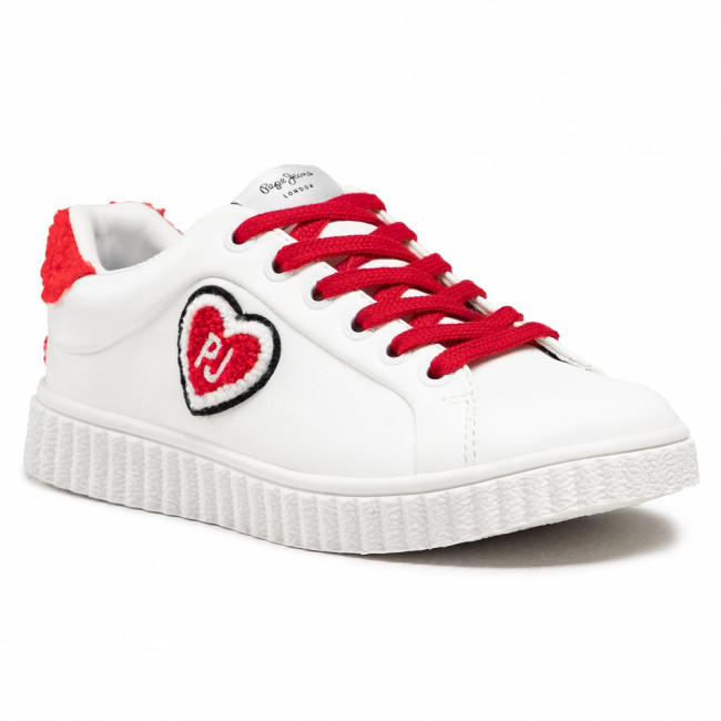 Sneakersy PEPE JEANS - Taylor Hearth PGS30353 White 800