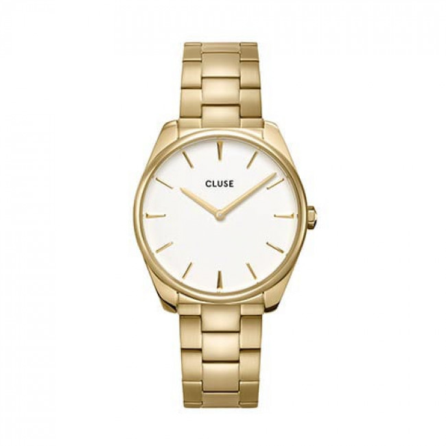 Hodinky CLUSE - Féroce  CW0101212005  Steel White/Gold