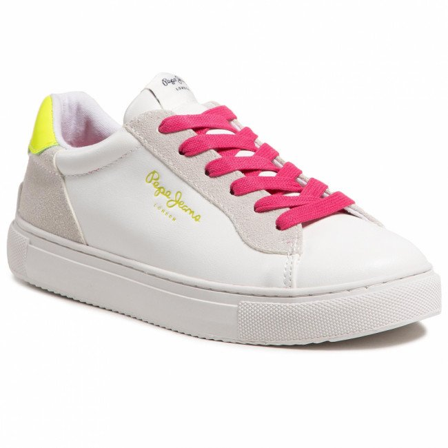 Sneakersy PEPE JEANS - Adams 2.0 Girls Co PGS30492 Facory White 801