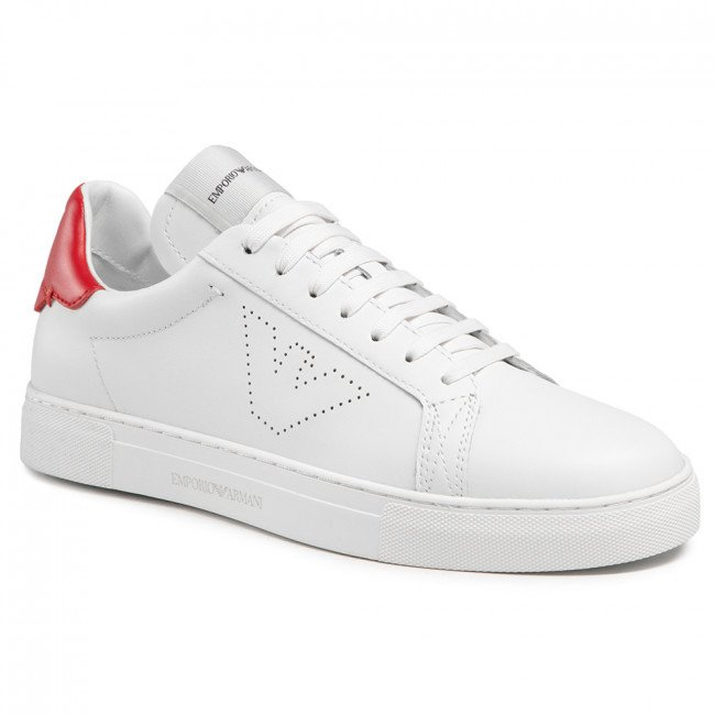 Sneakersy EMPORIO ARMANI - X4X316 XF527 N535 Opt.White/Red