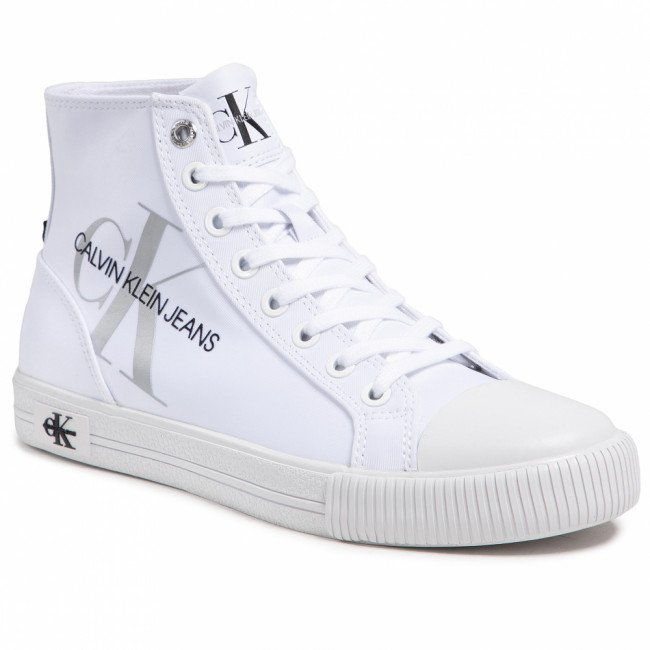 Tramky CALVIN KLEIN JEANS - Vulcanized Highlaceup Pes YW0YW00050 Bright White YAF