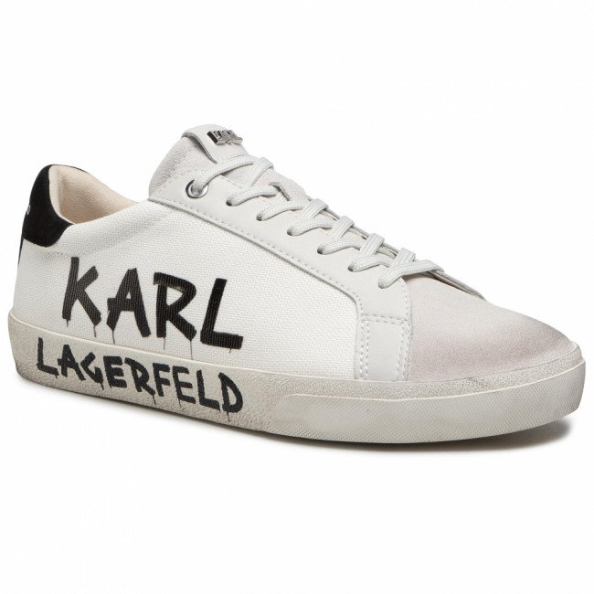 Sneakersy KARL LAGERFELD - KL51318 9T1 Off White Canvas