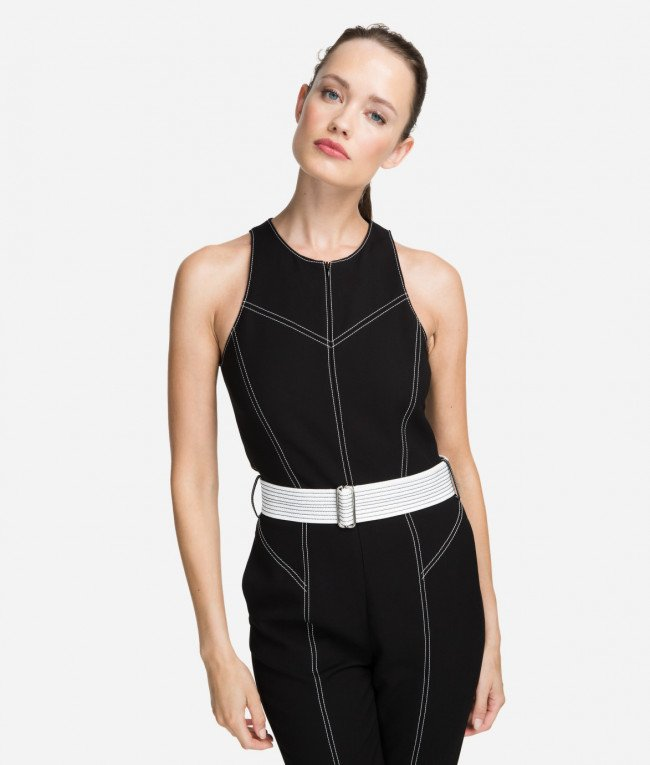 Overal Karl Lagerfeld Contrast Stitch Jumpsuit