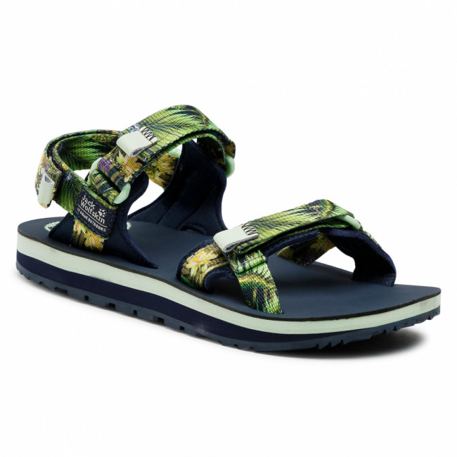 Sandále JACK WOLFSKIN - Outfresh Deluxe Sandal W 4039451 Midnight Blue All Over
