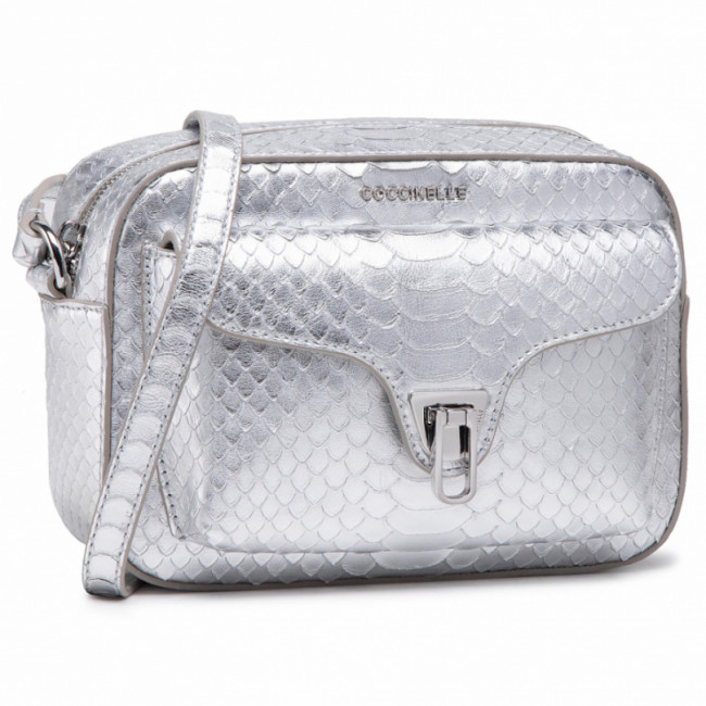 Kabelka COCCINELLE - HF4 Beat Python Lulula E1 HF4 15 02 01 Silver/Silver Y69