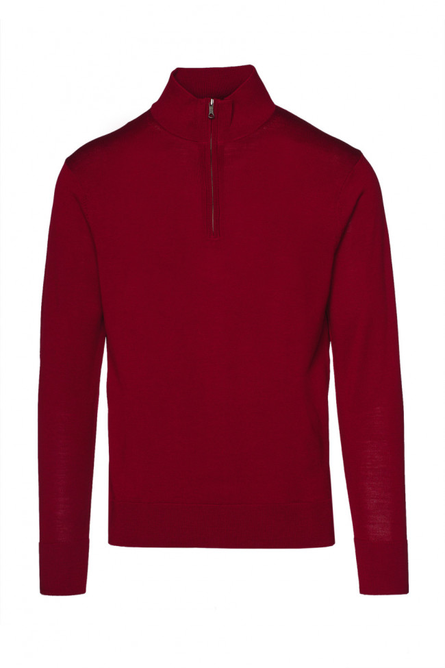 Sveter Brooks Brothers Swt Wl Easy Care Half Zip New Red