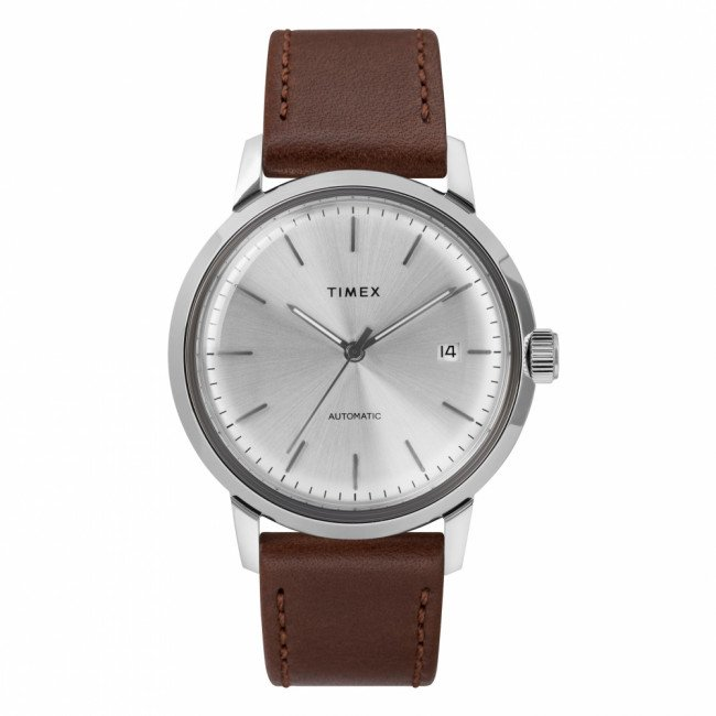 Hodinky TIMEX - Marlin Automatic TW2T22700 Brown/Silver