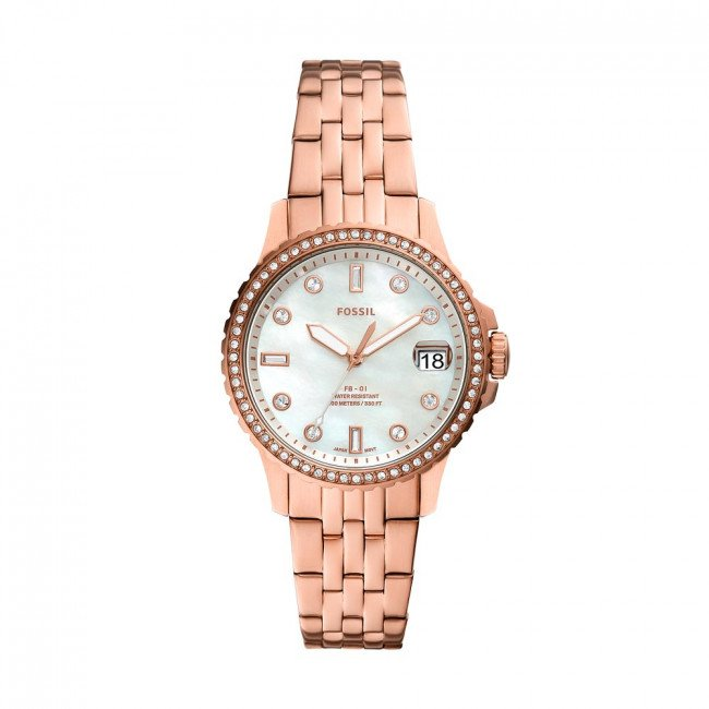 Hodinky FOSSIL - FB-01 ES4995 Rose Gold