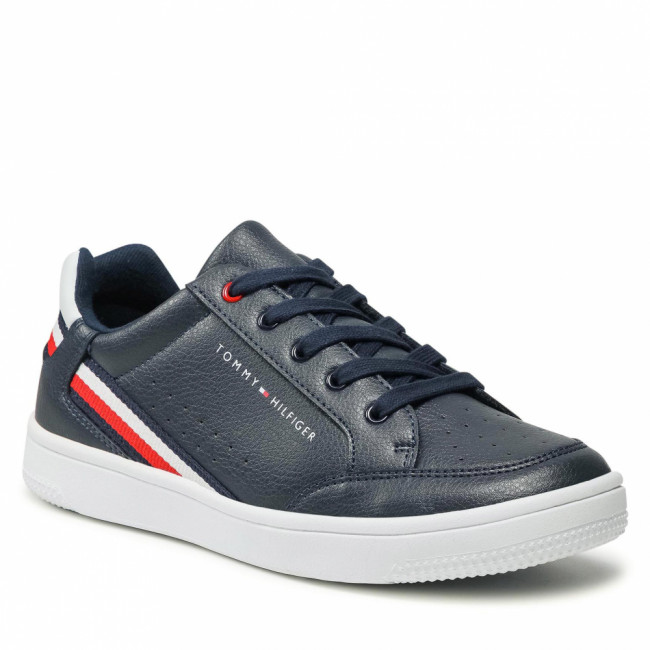 Sneakersy TOMMY HILFIGER - Low Cut Lace-Up Sneaker T3B4-31083-0621 S Blue/White X007