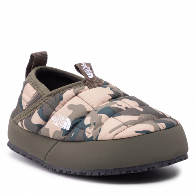 Papuče THE NORTH FACE - Youth Thermoball Traction Mule II NF0A39UX28J1 New Taupe Green Explorer Camo Print/New Taupe Green