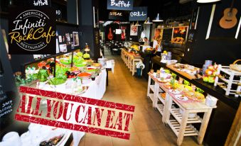 ALL YOU CAN EAT v Infiniti Rock Cafe