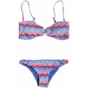 Roxy Bandeau & Strappy Surfer Set Sunrise Chambray