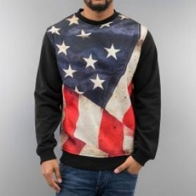 Just Rhyse USA Sweatshirt Black