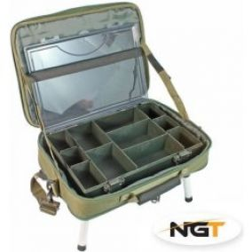 NGT Box Case Tackle Bag with Bivvy Table