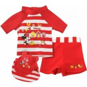 Disney Three Piece Swim Set Baby Minnie