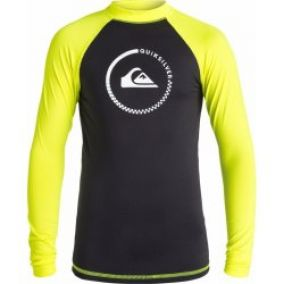 Quiksilver Lock Up Ls black/safety/yellow 16