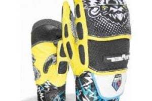 Level ski rukavice Pro Jr Mitt black yellow