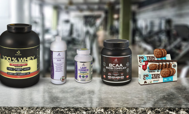 Výživové doplnky DG Nutrition - WHEY proteín, BCAA, Ladyburner, Excellent Protein Cookies