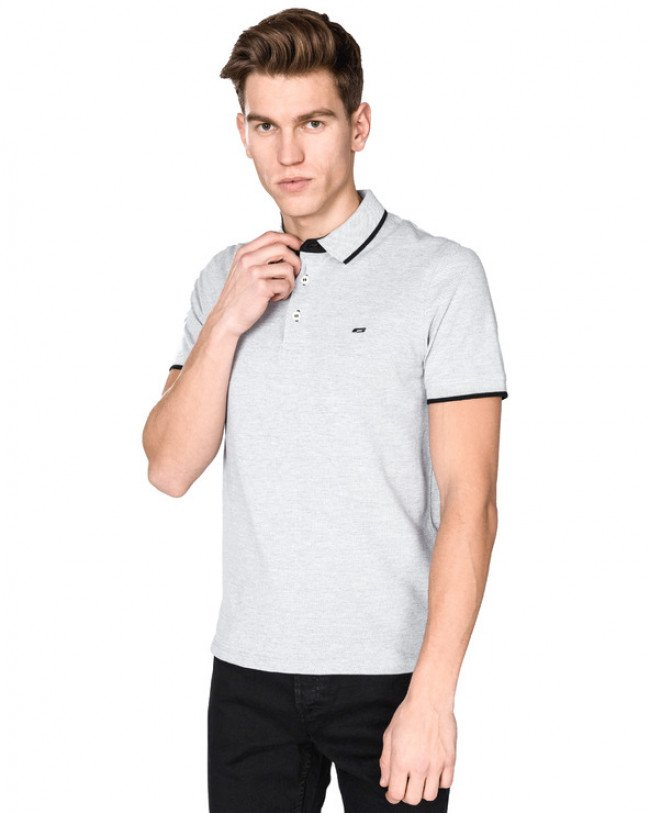 Jack & Jones Paulos Polo tričko Šedá