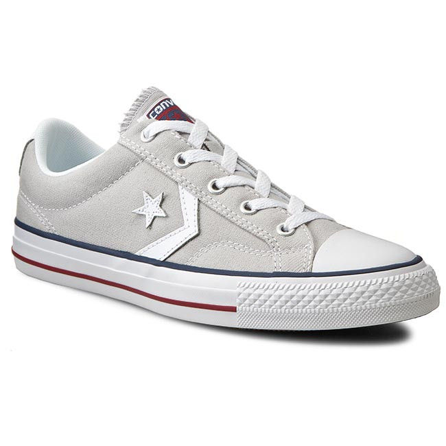 Tramky CONVERSE - Star Player Ox 144148C  Cloud Grey/W