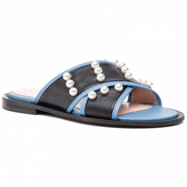 Šľapky L37 - Pearls And Sea S29S32  Black /Blue