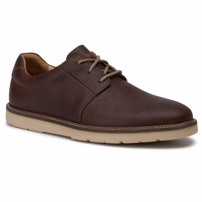 Poltopánky CLARKS - Grandin Plain 261448707 Tan Leather