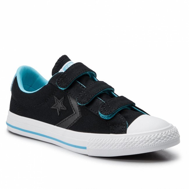 Tramky CONVERSE - Star Player Ox 664184C Black/Gnarly Blue/White