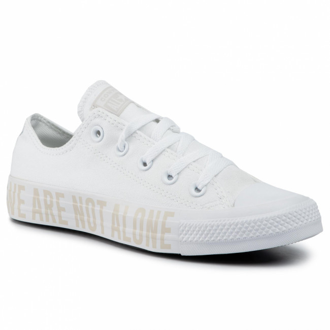 Tramky CONVERSE - Ctas Ox 165384C White/Pale Putty/White
