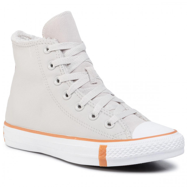 Tramky CONVERSE - Ctas Hi 166125C Pale Putty/White/Honey