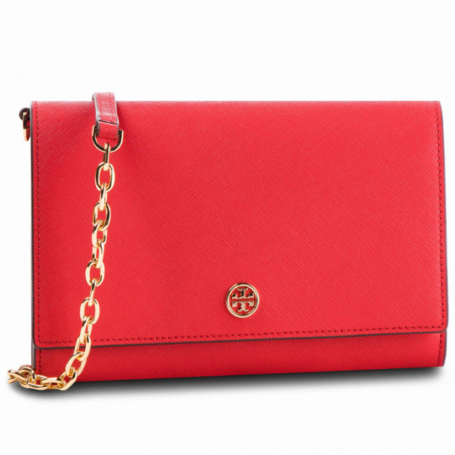 Kabelka TORY BURCH -  Robinson Chain Wallet 52708 Brilliant Red 612